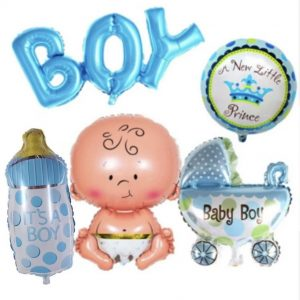 Boy Balloon 5 piece Set